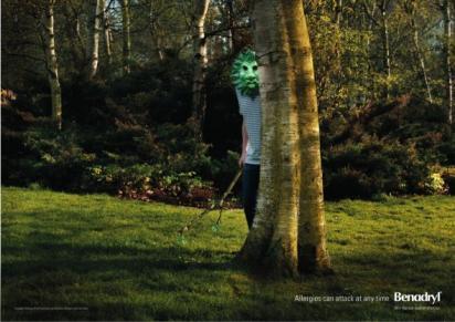 Реклама таблеток Benadryl