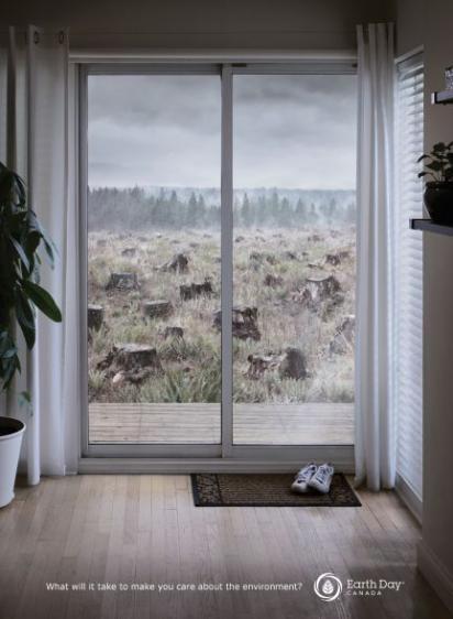 Креативная реклама Дня Земли в Канаде
