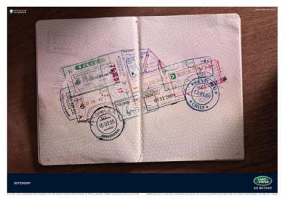 Реклама автомобиля Land Rover Defender