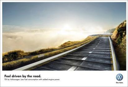 Реклама турбодизельного двигателя Volkswagen
