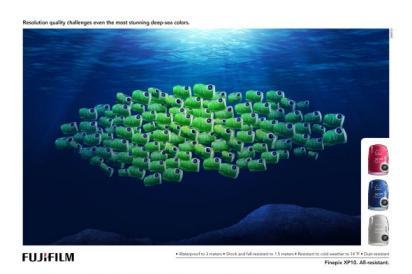 Реклама водонепроницаемого фотоаппарата
