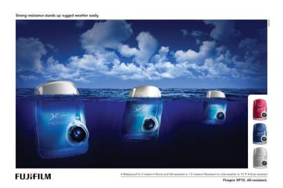 Реклама холодоустойчивого фотоаппарата