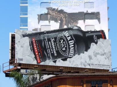 Рекламный щит Jack Daniel's