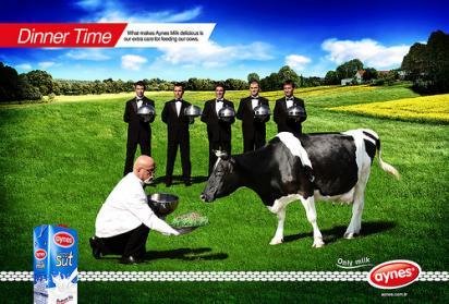 Реклама альпийского молока