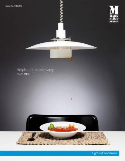 Реклама светильника