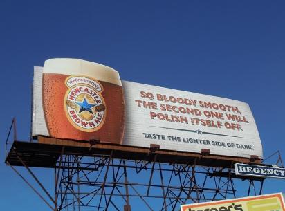 Рекламный щит Newcastle Brown
