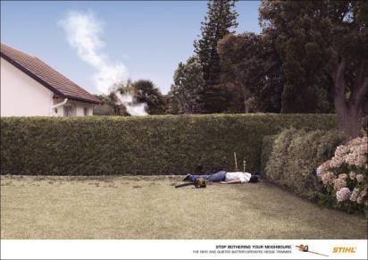 Реклама садовых ножниц Stihl