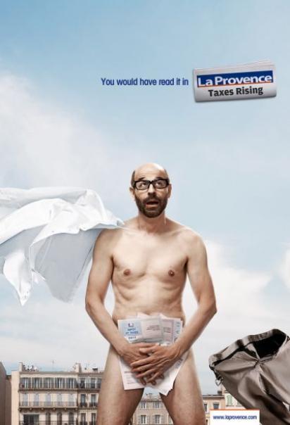 Креативная реклама газеты La Provence