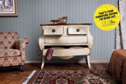 Забавная реклама мебели