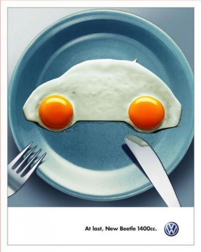Креативная реклама Фольксваген