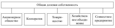 Формы общего делового присвоения