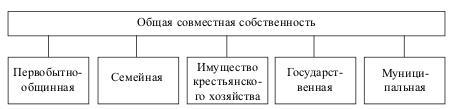Формы общей совместной собственности