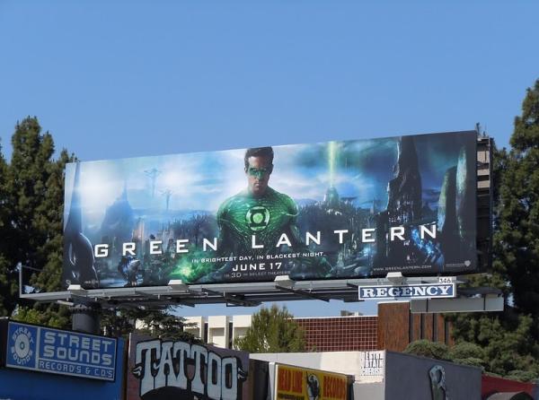 Свежий билборд фильма Зеленый Фонарь
