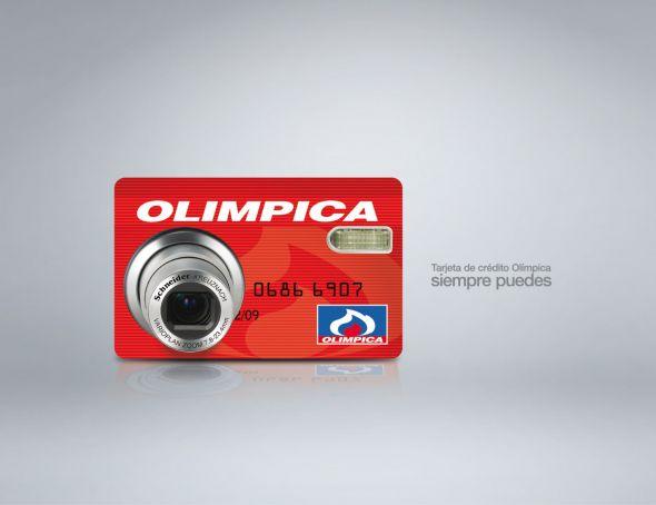 Реклама кредитной карты Olimpica