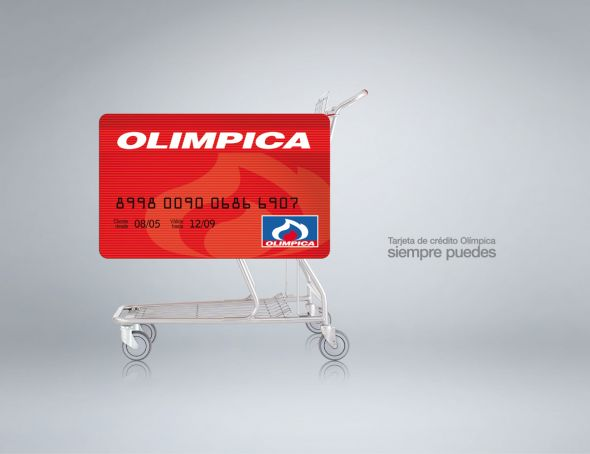 Реклама кредитки Olimpica