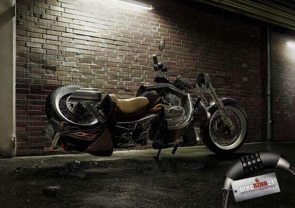 Реклама кодовых замков для мотоциклов