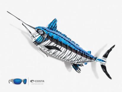 Креативная реклама солнечных очков Costa