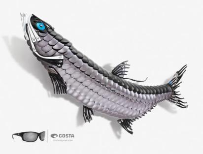 Оригинальная реклама солнечных очков