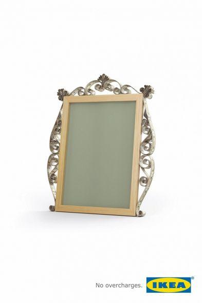 Реклама зеркала ИКЕА
