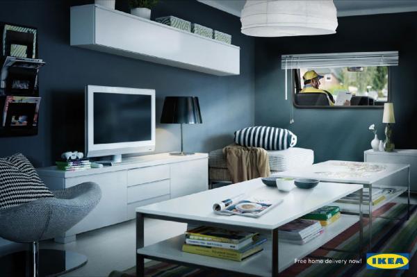 Реклама доставки мебели IKEA
