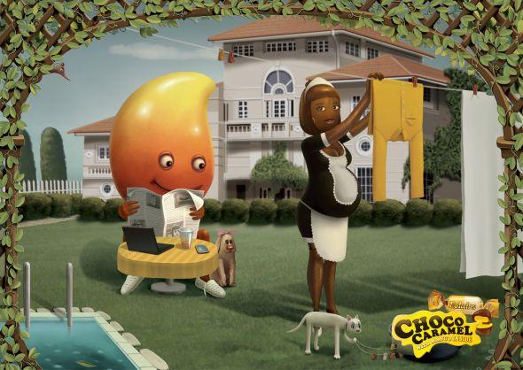 Реклама конфет с манго