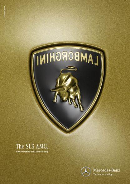 Mercedes-Benz SLS AMG быстрее lamborghini