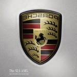 Реклама автомобиля Mercedes-Benz SLS AMG: Зеркало заднего вида