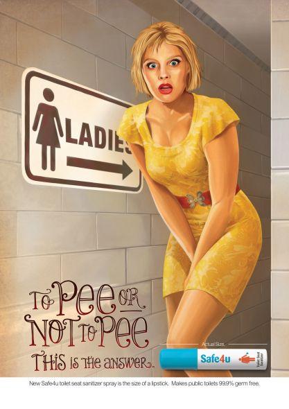 Реклама обеззараживающего спрея для туалетов