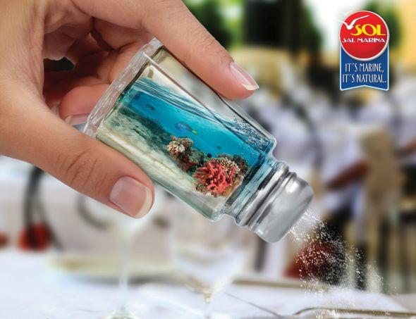 Красивая реклама морской соли Sal Sol