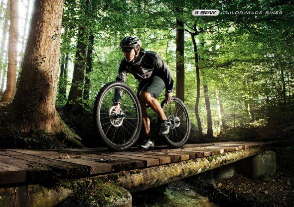 Реклама горных велосипедов SPW