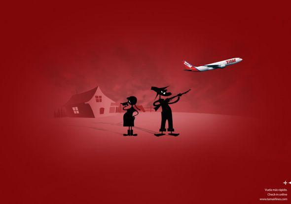 Креативная реклама Авиакомпании