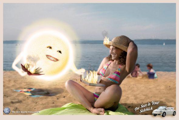 Реклама  Volkswagen Beetle: Подружись с солнцем