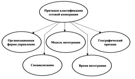 Классификационные признаки сетевой кооперации