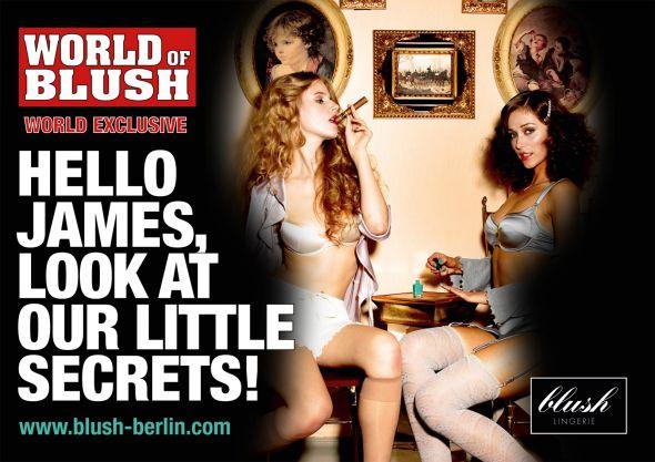 Горячие девушки в рекламе белья