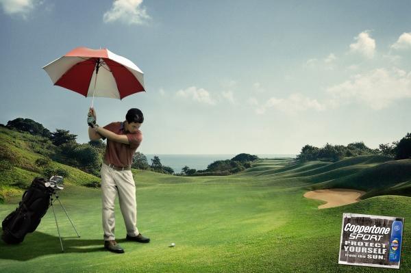 Реклама солнцезащитного лосьона