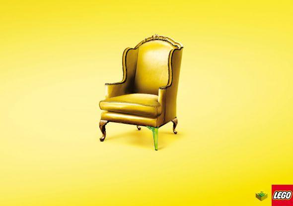 Реклама лего - стул