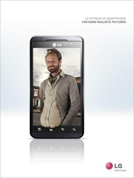 3D телефон LG