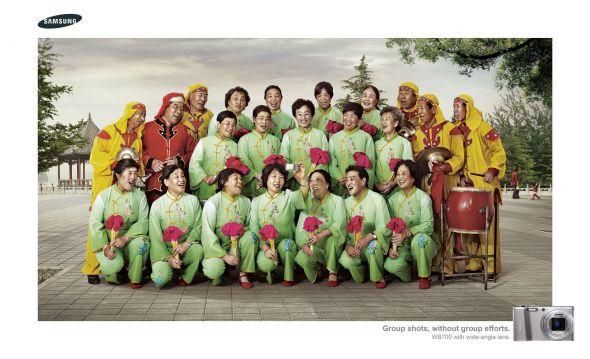 Креативная реклама Samsung WB700