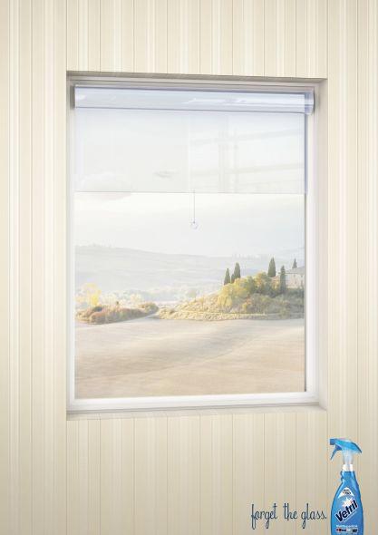 Реклама средства для мытья стекол