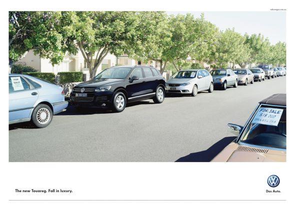 Реклама Volkswagen Touareg: Продать старье