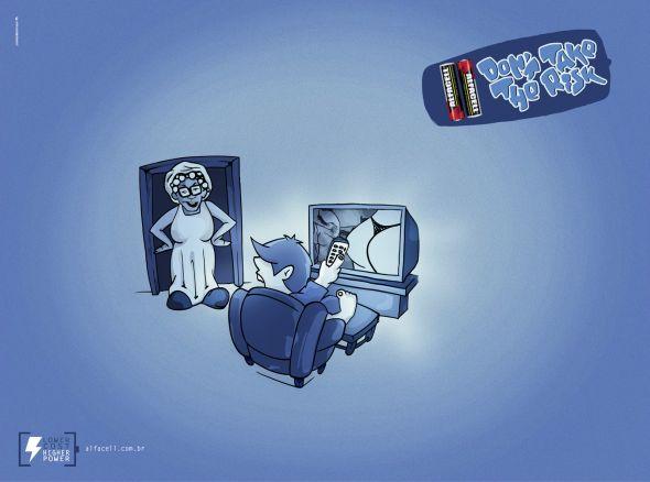 Креативная реклама батареей: Порно