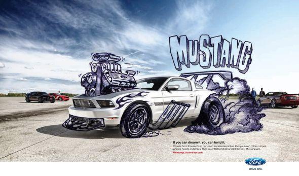 Форд Мустанг в рекламе