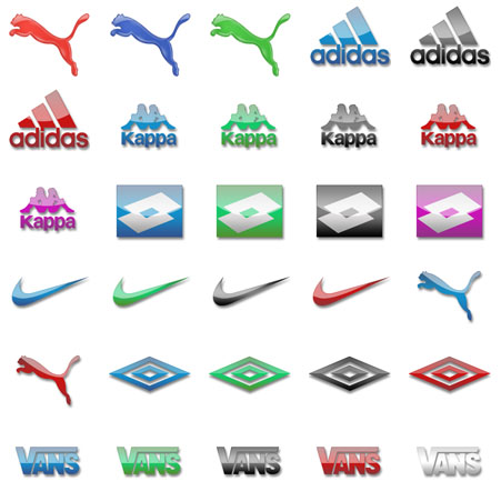 Товарные знаки спортивных фирм