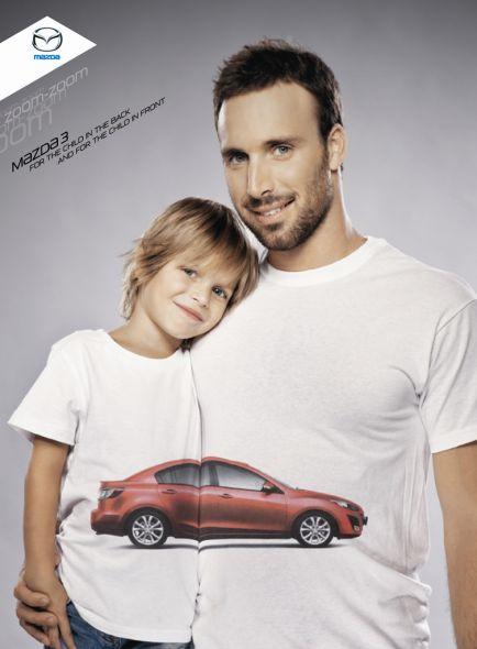 Реклама семейного автомобиля мазда