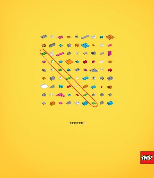 Крокодил из Лего