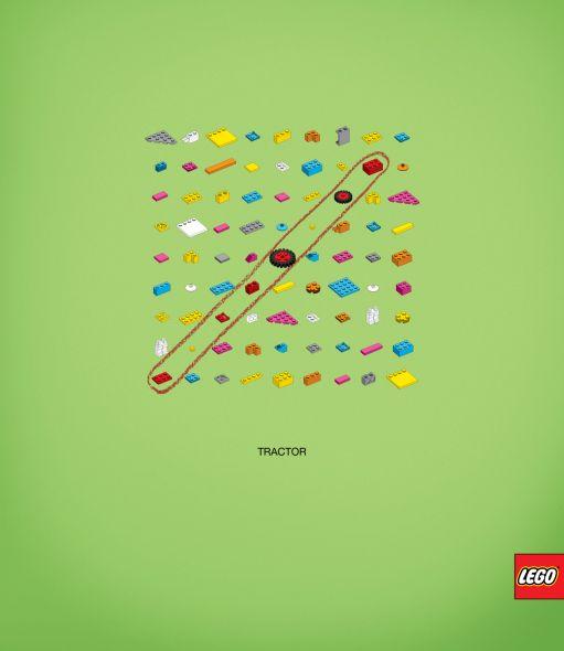 Трактор из Лего