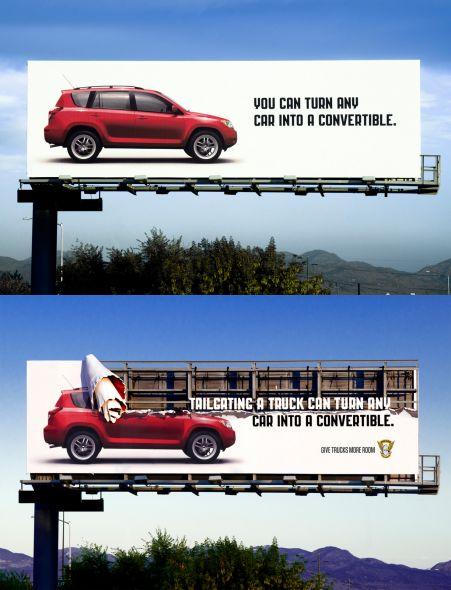 Билборд призывает к безопасному вождению