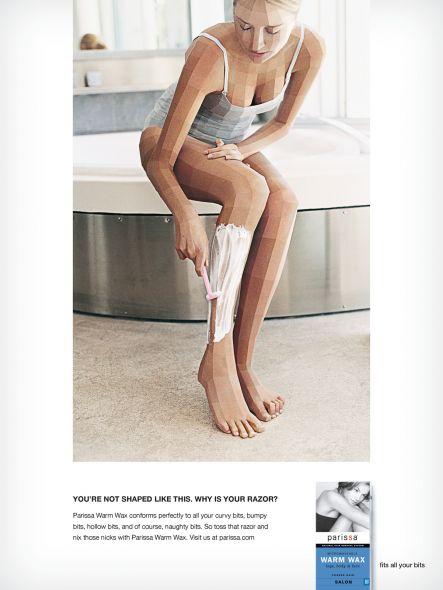 Реклама восковых полосок