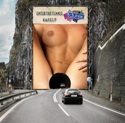 Наружная реклама презервативов Дурекс