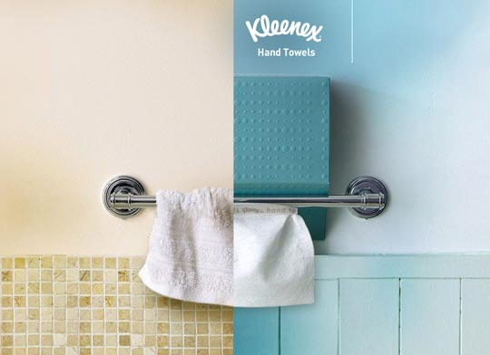Реклама одноразовых полотенец для рук